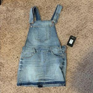 Fashion Nova Denim Overall Skirt